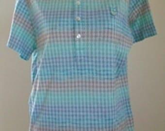 PAUL & JOE Used Designer Clothes Mens Casual Shirt short sleeves Cotton Size L.