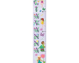 Personalized Fairy Girl Growth Chart