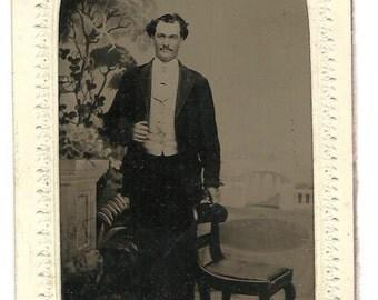 Tintype of Dapper Victorian Era Man
