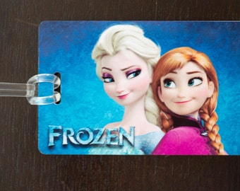Personalized luggage tag / bag tag of disney frozen