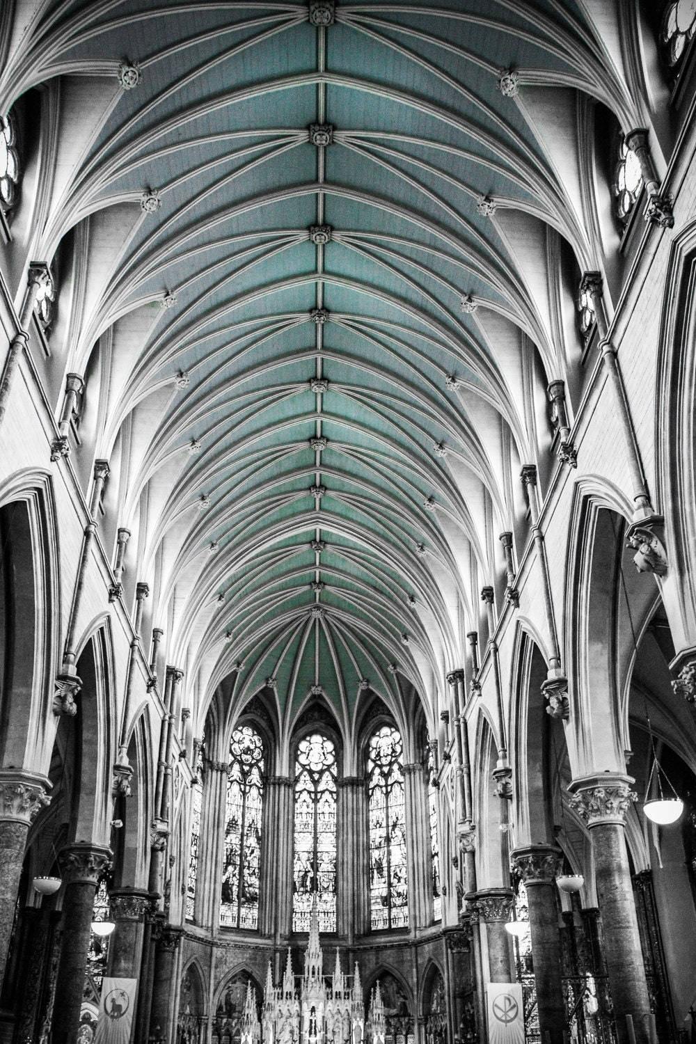 Cathedral Ceiling Arches Arch Black and White Neutral