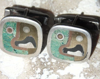 Vintage~  Metales Castillo Parrot Cufflinks Inspired by Rufino Tamayo