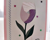 handmade iris fold   card – with love