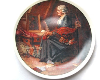Norman Rockwell Mother's Day Reflections Collector Plate 1979
