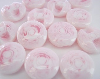 10 Pink Shank Buttons (13mm) Resin Clothing Buttons Knitting Sewing Girls Baby Clothing Buttons