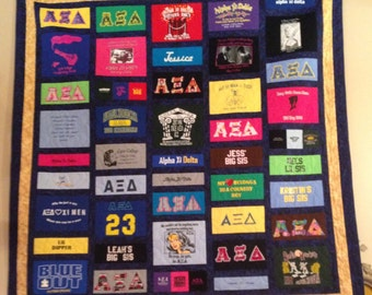 Custom T-Shirt Quilt - Made to order - Deposit Only