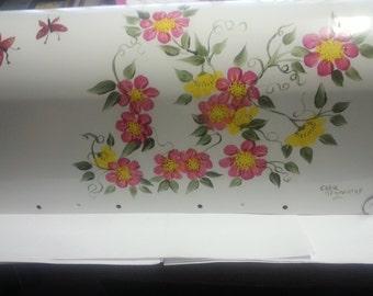 MAILBOX with WILD FLOWERS Handpainted