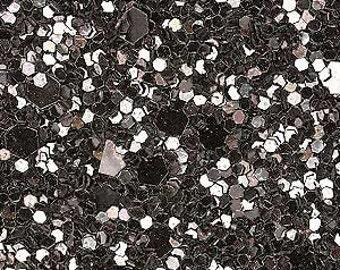 Glitter fabric. Gunmetal. 100cm x 130cm. JR04965