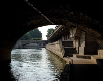 A Bridge on the River Scein, Paris, France, Various Sizes, Includes Shipping to U.S. & Canada