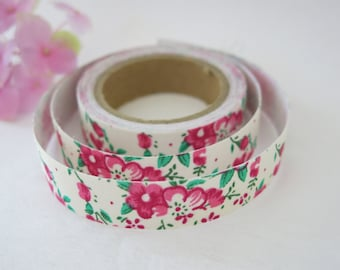 Floral Fabric Tape / Adhesive Decoration Fabric Tape  FT019