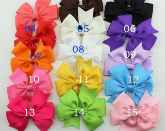10 pcs Ribbon Bows, Baby Boutique Hair Bows,Kid's Girl's Hair Accessories