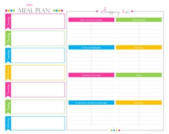 Weekly plan pdf – Etsy