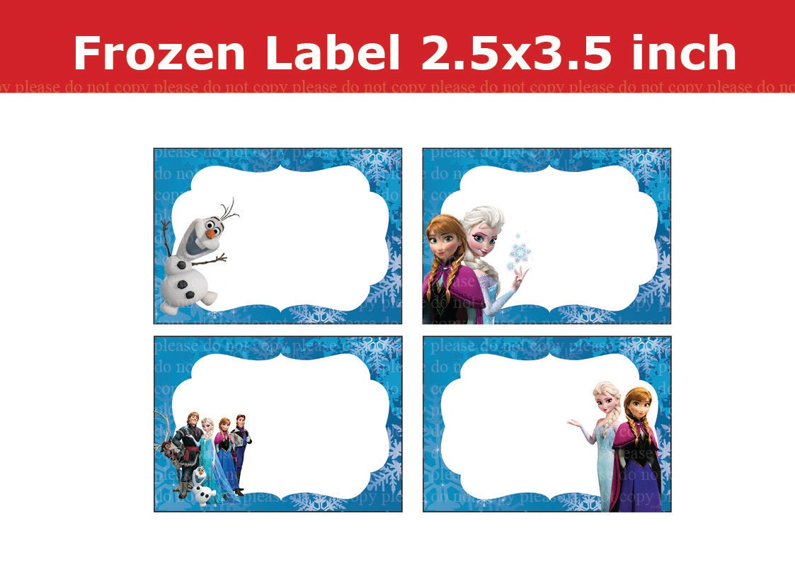 Playful image regarding frozen printable labels