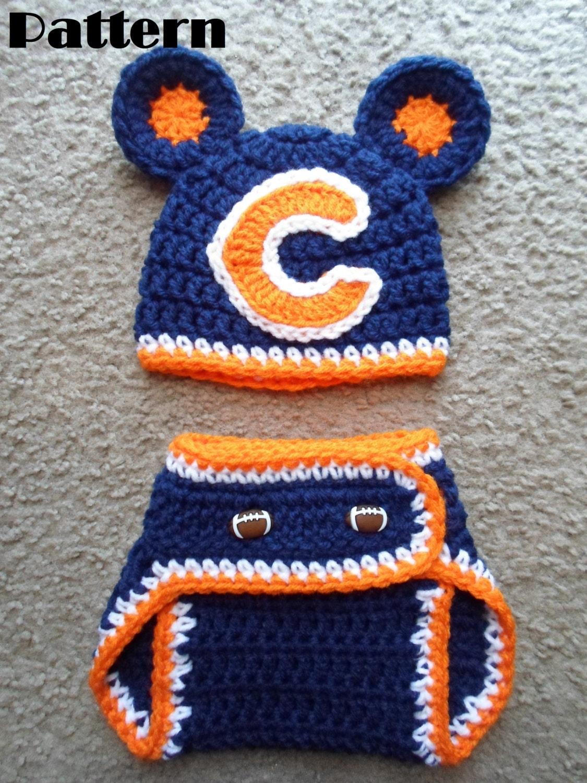 Free Crochet Pattern For Chicago Bears C : Crochet PDF Pattern-Chicago Bears by DarlingBabyCreations ...