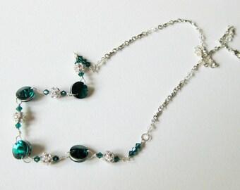 Emerald Rivoli Crystal Necklace