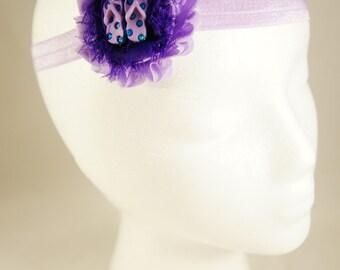 Purple flip flop stretch children's headband