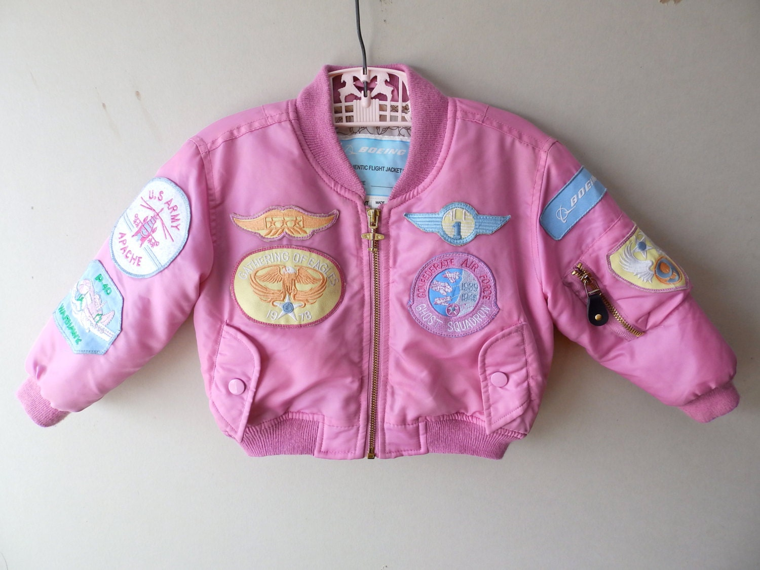 Toddler Girl Boeing Bomber Jacket Size 2T by LittleVisionsThrift