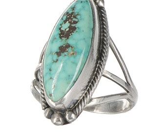 sterling & turquoise Southwest style ring with a fine quality stone