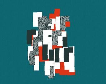 Large Art Print, Fine art prints, Wall Art prints, Modern Art Prints, Abstract art print, Digital Art Print, Geometric art