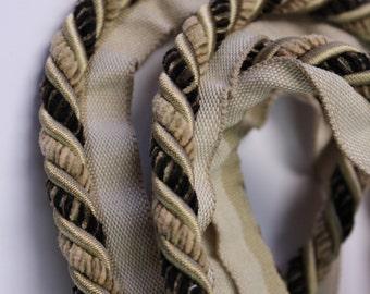 Cream and Brown Braided Cording - Decorative Trim 535