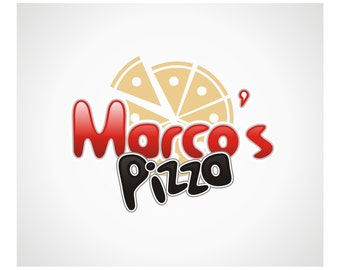 Logo Design-Premade Restaurant Logo-Logos- Pizza - Italian Restaurant Logo - Pizza Delivery Outlet Logo - Pizza Logo