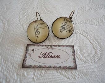 Music earrings 20 mm.