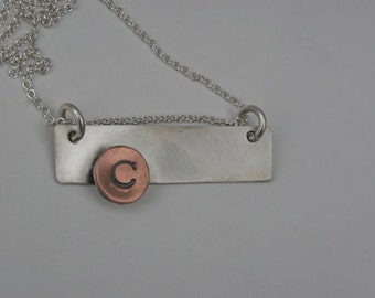 Sterling Silver Necklace - Personalized - Initial