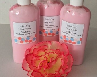 Pink Citrus Handmade Luxury Lotion - Large 8oz