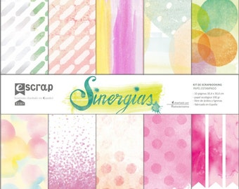 "Scrapbooking paper set ""Synergies"" 12'x12'"