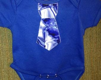Waterfalls of Blue Tie Onsie Newborn 0-3 Month