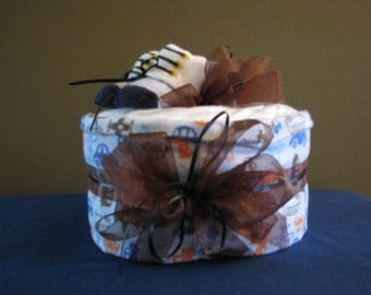 Single layer baby gift....Transportation themed