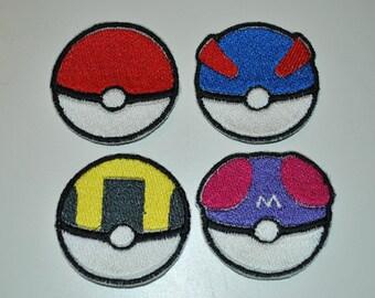 Pokémon Patches! Pokéball, Great Ball, Ultra Ball, Master Ball + secret design! Premade Anime Cosplay Patch