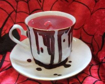 Bloodbath Gothic, Ersebet Bathory inspired Teacup Candle