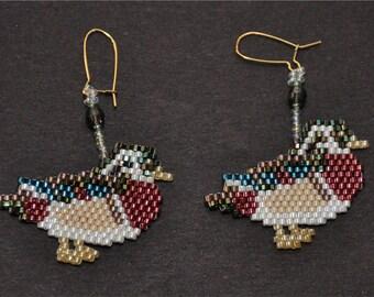 Wood Duck Earrings
