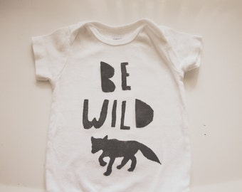 Baby Bodysuit-Be Wild Fox