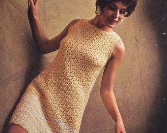 PDF crochet dress sleeveless vintage crochet pattern pdf INSTANT download pattern only pdf 1960s