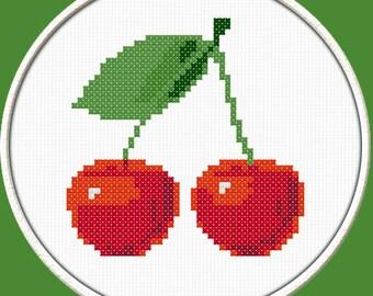Cherry - PDF Downloadable Printable Cross Stitch Pattern