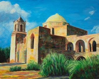 Mission San Jose, San Antonio - giclee print