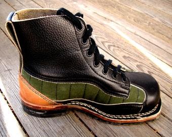 1940s Swedish Army Walking & Ski-ing Boots Vintage NOS