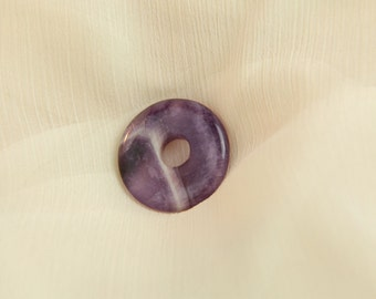 Donut - Amethyst-gemstone jewelry purple violet