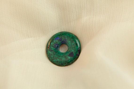 Vert de bijoux de pierre gemme donut azurite malachite - Vert de malachite ...