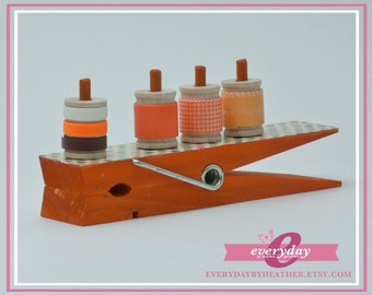 Jumbo Clothespin Washi Tape Holder - Orange Dot