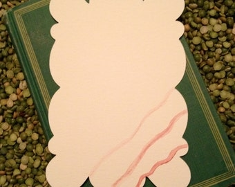 Bubble Shaped Hand Painted Watercolor Note Cards
