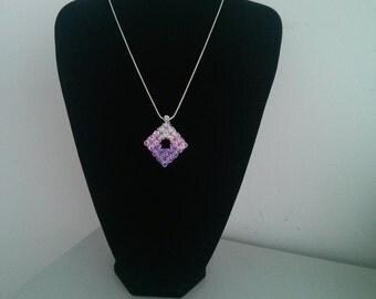 Diamond Shape Swarovski Pendant