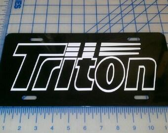 Triton license plate tag