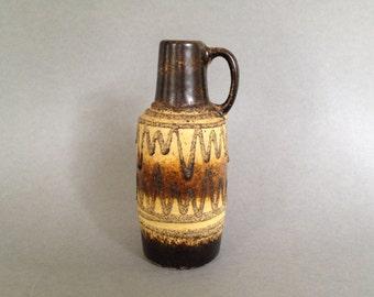 VEB Haldensleben Keramik 4015 Mid Century Fat Lava Vase Mid Century East German Pottery.