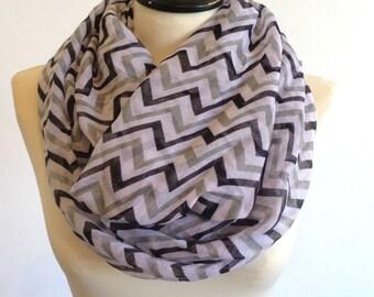 Chevron infinity scarf, circle scarf, loop scarf, women scarf, zig zag scarf, fashion scarf