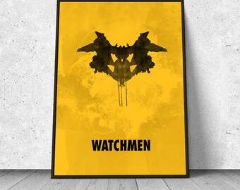 Watchmen, Rorschach test, ink blot, alternative minimalist movie poster, giclee art print, A3