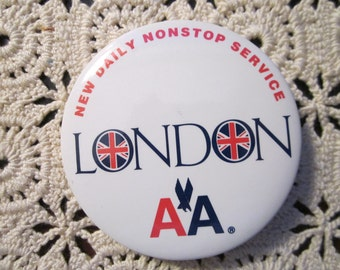American Airlines Button - New Service to London