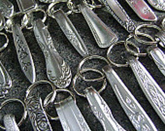 Wholesale Lot - 10 Stainless Steel Keychains, Wholesale Keychains, Stainless Keyrings, Keyrings, Keyfobs, Repurposed Accessories, NuForm